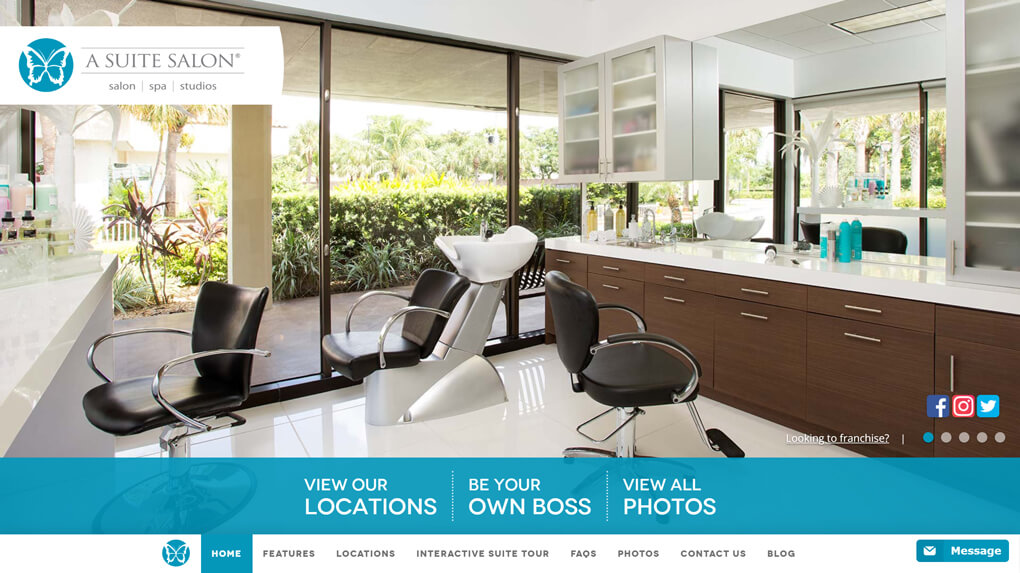 A Suite Salon Website