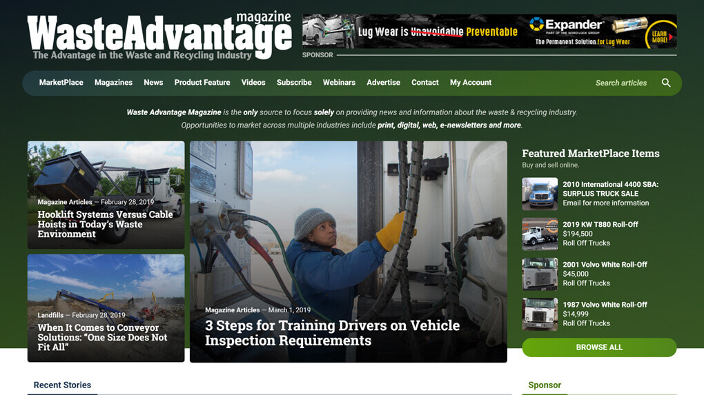 Waste Advantage Website